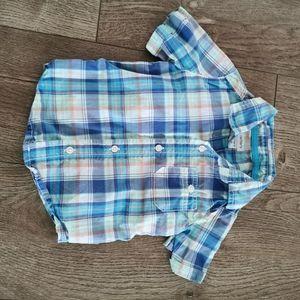 3/$15 Carter's toddler boy button down shirt 18 M